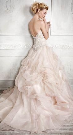 pink princess wedding dress from Kenneth Winston 2016 Wedding Dresses, Designer Wedding Dresses, Ball Dresses, Ball Gowns, Princess Wedding, Pink Princess, Disney Princess, Mermaid Dresses, Beautiful Wedding Gowns