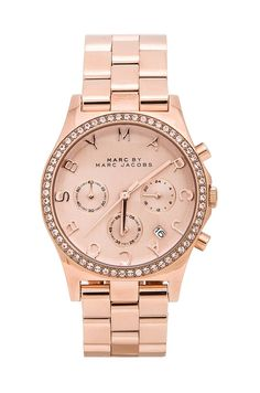 Marc by Marc Jacobs Henry Chrono Watch in Rose Gold from REVOLVEclothing