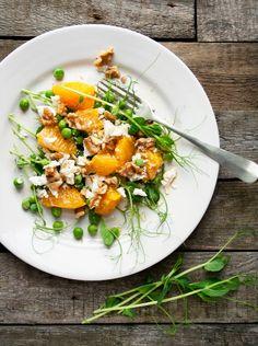 Erwtenscheuten salade | © marleen van es #peashoots #salad