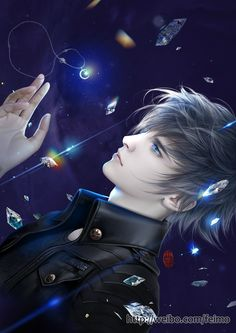 Pangeran Dari Dunia Lain by Elisabeth Fantasy Art Men, Anime Fantasy, Fantasy Artwork, Dark Fantasy, Cool Anime Guys, Handsome Anime Guys, M Anime, Manga Boy, Boy Art