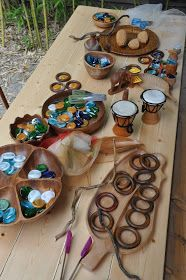 "Lovely loose parts to explore - from Stomping in the Mud ("",)"