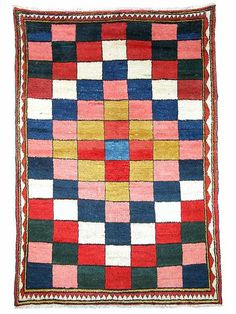 Bakhtiari Rugs: Bakhtiari Gabbeh around 1930 lot 149