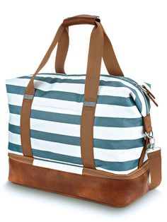 Colorful Aztec Chevron Tribal Large Canvas shoulder bag with Shoe Compartment Travel Tote Luggage Weekender Duffle Bag