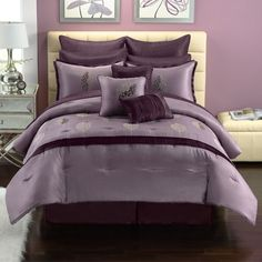 1000 Images About Purple Bedroom On Pinterest Comforter