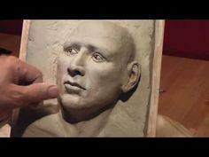 3D Drawing with Clay-4. Making a 3D clay relief.
