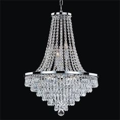 Glow Lighting Vista 8 Light Empire Chandelier Size: H x W Chandelier Design, Ceiling Lights, Crystal Trim, Chandelier Lighting, Chandelier Style, Crystal Chandelier, Chandelier, Clear Glass, Chandelier Shades