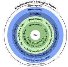 Bronfenbrenner's Ecological systems theory- explains child development in terms of the reciprocal influences between children & environmental settings