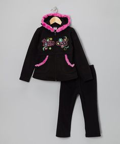 Take a look at this Black & Pink 'Princess' Zip-Up Hoodie & Pants - Toddler & Girls by Blow-Out on @zulily today! - Anohter cute purchase from Zulily - Love this site!!