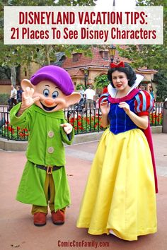 Disneyland vacation tips for the best places to see characters in the park! From Mickey and Minnie, to Cinderella or even Captain America there is lots of places to meet your favorite Disney characters.