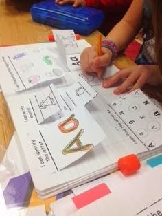 Use interactive notebooks to teach and review letters, sounds, letter ID, etc!