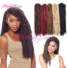 18'' Synthetic Fauxlocs Crochet Hair 24roots Faux Locks Crochet Braid Hair Extensions 100g Goddess Faux Locs Crochet Hair Soft Dreadlocks Bulk Human Hair Extensions Virgin Hair Bulk From Modernqueen888, $7.32| Dhgate.Com Crochet Braids Hairstyles, Braided Hairstyles, Faux Locks Crochet, Braid In Hair Extensions, Braid Hair, Faux Locs, Crochet Hair Styles, Synthetic Hair, Virgin Hair