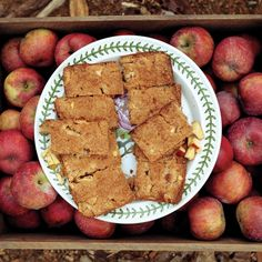 "Loaded with fall flavor, apple brownies mix up as quickly as the chocolate version -- just the thing for a school bake sale. Any sweet, firm variety of apple will work in this recipe, which was developed by John Bunker's friend Amy Traverso. Recipe adapted from ""The Apple Lover's Cookbook,"" by Amy Traverso."