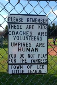 A great reminds as sports get  into full swing this season!