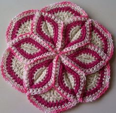 Hand Crocheted potholder/pillow cover by smileyface21 on Etsy, $15.00