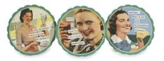 Anne Taintor 4502 4-Inch Round Coaster Set, Daiquiris by ANNE TAINTOR,INC. $9.55. 4-Inch round. The perfect hostess gift and a sure-fire conversation starter! Each set of six reusable Coasters includes two each of three designs.