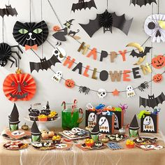 Pin for Later: More Smiles Than Scares: 17 Cute Halloween Decorations For Kids Halloween Decorations The Land of Nod's Halloween Party Collection   ($4.50 — $13) includes everything you need to make a kid-friendly Halloween party.