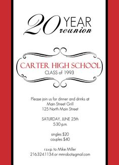 Class Reunion Invitation Letter | Reunion invitation samples and ...
