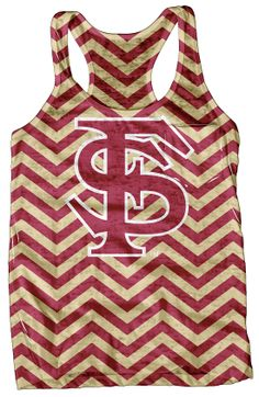 Support your favorite college football team in this Florida State University tank top featuring an allover chevron print, racerback and Florida State Seminoles logo on the front. GO NOLES. Florida State Football, Florida State University, Florida State Seminoles, Florida Style, Florida Girl, Football Girls, College Football, Junior Outfits, Football Season