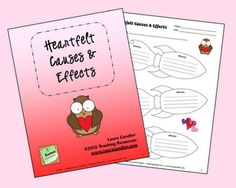 Corkboard Connections: Heartfelt Causes & Effects Lesson and Freebie from Laura Candler - based on the book Somebody Loves You, Mr. Hatch but the graphic organizer can be used with other selections and not just for Valentine's Day