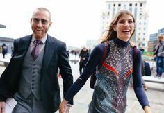 http://chicerman.com  billy-george:  Justin OShea and Veronika Heilbrunner  Spotted at London Fashion Week  Photo by Phil Oh  #streetstyleformen