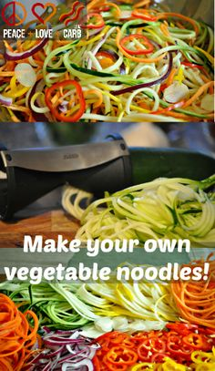 Make your own low carb, paleo and gluten free vegetable noodles.