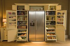Neptune -  Grand Larder Unit. How awesome is this? Ripening shelves and full pantry storage hugging your fridge?