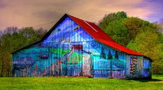 All 4 sides are painted. Barn is located in Central Indiana near the town of Greencastle.