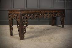 Large Chinese Serving Table - Antiques Atlas Chair Design, Furniture Design, Antique Chinese Furniture, Serving Table, Antiques For Sale, Oriental Design, Antique Photos, Altar, Decorative Items