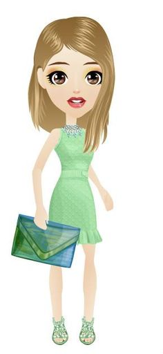 #green #blonde #gamefashion #dress #clutch