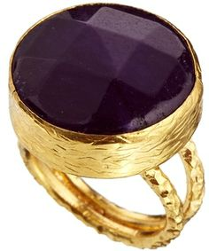 Ottoman Hands One Stone Circular Ring