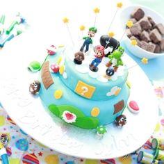 mario bros. birthday cake!