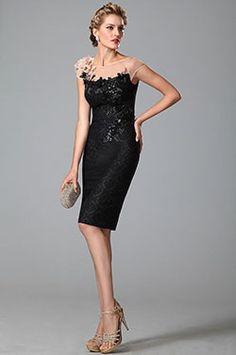 eDressit Glanzend Paillette Schier Top Klein Schwarz Kleid (03150100) - EUR 119,69