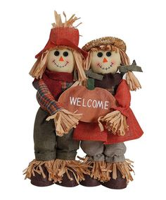 Look what I found on #zulily! Scarecrow Couple Welcome Sign by GCA International #zulilyfinds