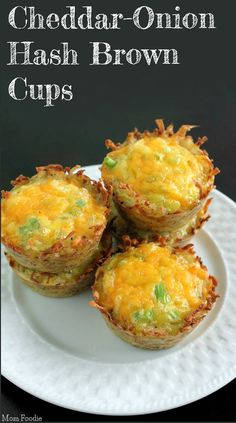 Cheddar Onion Hash Brown Cups Recipe. Well Yummy!! Great on the go breakfast!