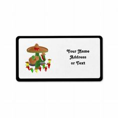 SOLD ! Cactus with Dancing Peppers Custom Address Label shipping to Marina Del Rey, CA #CINCODEMAYO #CHILIPEPPERS