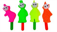 Foam Clay Teletubbies Ice Cream Neon Colors - YouTube