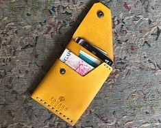 Tauruscamp Base wallets - Cash sized for most bank notes, Cards and Coin purse, Slim, Practical and Excellent Gift! Good Wallets, Leather Wallet Pattern, Slim Wallet, Men Wallet, Minimalist Wallet, Leather Cover, Men's Leather, Bracelets For Men, Leather Bracelets