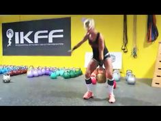 Donica Storino cleans the 106lb kettlebell / Доника Сторино забрасывает гирю 48 кг на грудь - YouTube Kettlebell, Gym Equipment, Exercise, Facebook, Sports, Youtube, Ejercicio, Hs Sports, Kettlebells