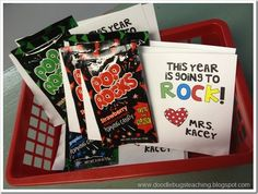 Perfect for my rock star theme! back to school treats!
