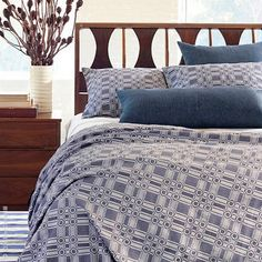 Lightweight cotton Porto Duvet Cover collection by Pine Cone Hill features a modern geometric print.