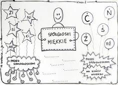 Znalezione obrazy dla zapytania ortografia ó u pinterest Polish Clothing, Polish Language, Hand Lettering, Bullet Journal, Teaching, Writing, Education, School, Diy