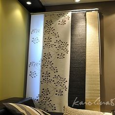 These are awesome!! Panel curtain for KVARTAL rail (Ikea)