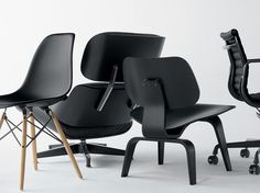 All-black is the new black. We're loving this darker side of Eames.