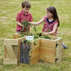 Panel Planter Great Planter For Children As They Can Reach The Middle To Plant And The Sides Show The Roots And More Ideal Planter For School Garden