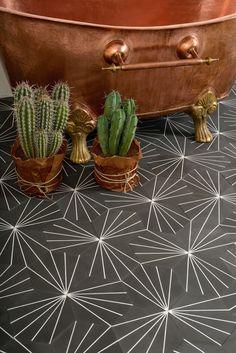 dandelion tiles in almost black.