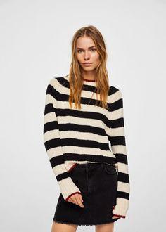 Stripe pattern sweater -  Women   MANGO USA