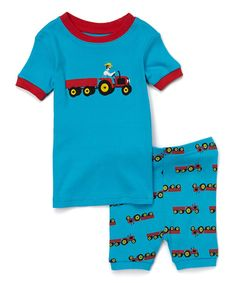 Loving this Leveret | Blue Tractor Pajama Set - Infant & Toddler on #zulily! #zulilyfinds