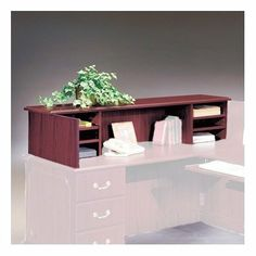 "Wyndham 13"" H x 48"" W Desk Reception Screen Finish: Mahogany by High Point Furniture. $684.59. WYM610 Finish: Mahogany Features: -Non-skid rubber strips on bottom prohibit movement.-Four adjustable shelves.-All panels are 1'' thick with heavy duty adjustable nylon leveling glides.-Modesty panels are a 3/4'' thick core.-Top is 1'' thick MDF surfaced in thermally fused laminate and is properly backed. Color/Finish: -Matte finish. Dimensions: -Fits 66'' W x 30'' D single pe..."