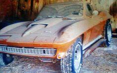 1966 Corvette found in a U.K. barn.