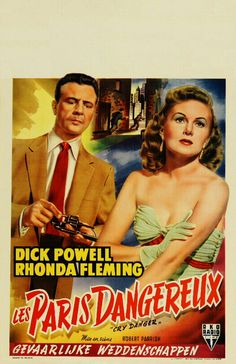Cry Danger (1951) - Original Belgian Poster retouched by Metek09